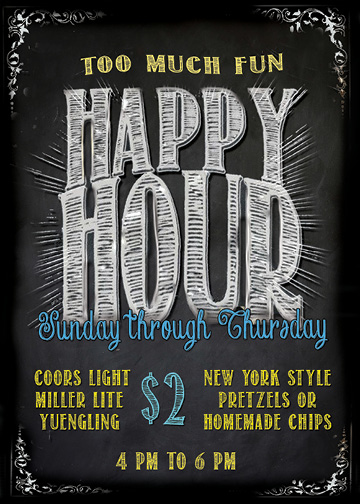 RRB HAPPY HOUR CADDIE FLYERS